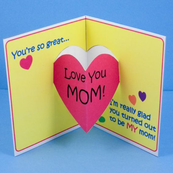 Foldable Mother's Day cards;