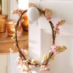 WREATH HANGING ON DOOR KNOB