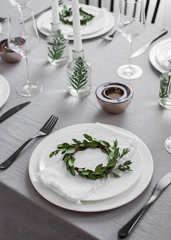 Mini Wreath Place Setting